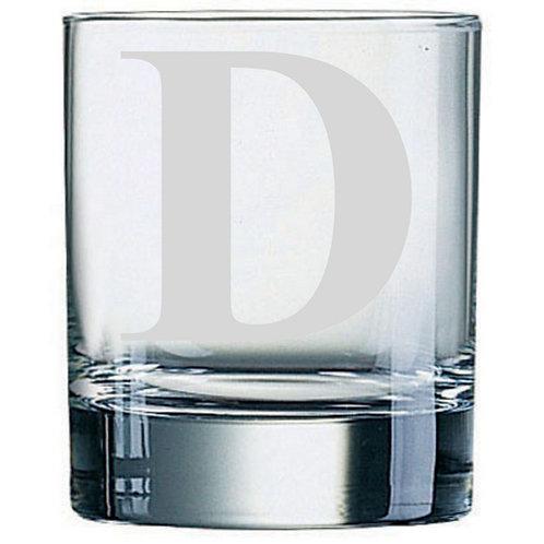Dartington Crystal Initial Tumbler | Letter D | Boxed | Free Engraving