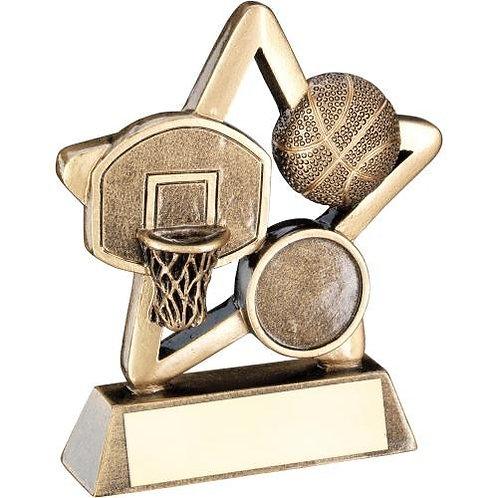 Basketball Mini Star Trophy - 95 mm