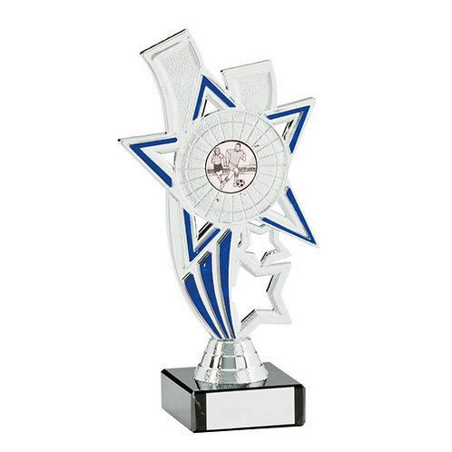 Apollo Silver & Blue Multi-Sport Trophy - 135mm