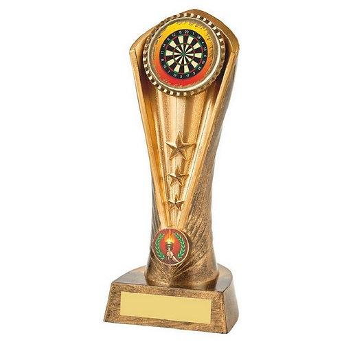 Antique Gold Darts Cobra Trophy - 210mm