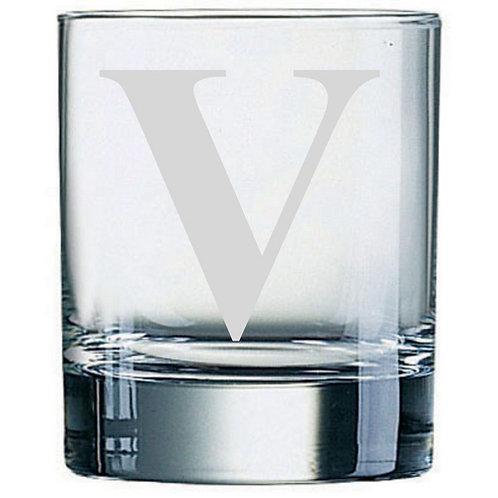 Dartington Crystal Initial Tumbler | Letter V | Boxed | Free Engraving