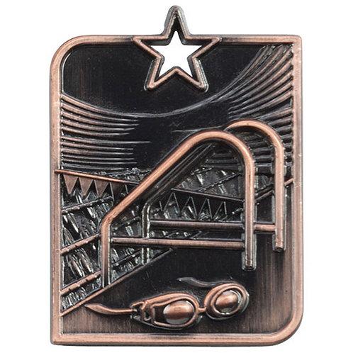 Centurion Star Series Swimming Medal Bronze - 53x40mm