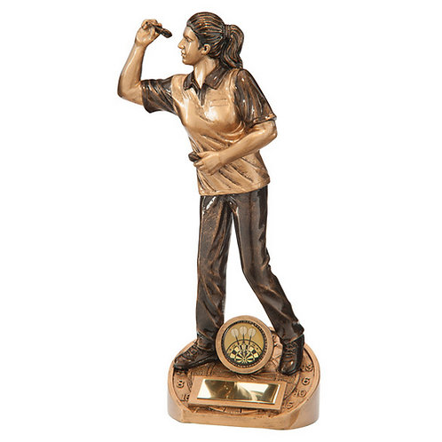 Bullseye Female Darts Award - 230mm