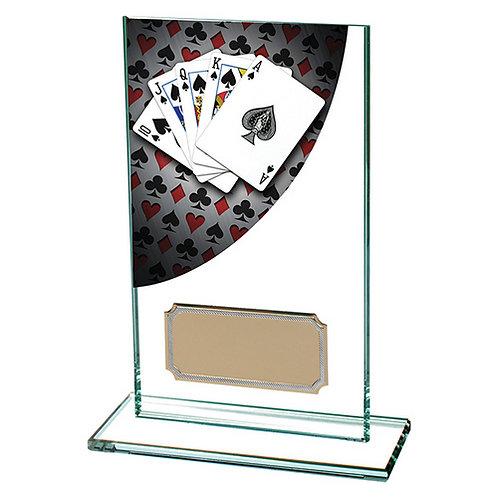 Colour Curve Poker Jade Glass Award - 140mm
