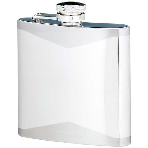 Hip Flask |Stainless Steel Two Tone| 6oz|Free Engraving