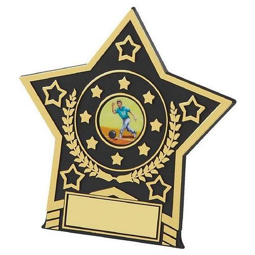 Black Plastic Star Award - 120mm