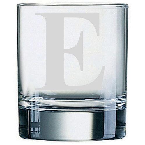 Dartington Crystal Initial Tumbler | Letter E | Boxed | Free Engraving