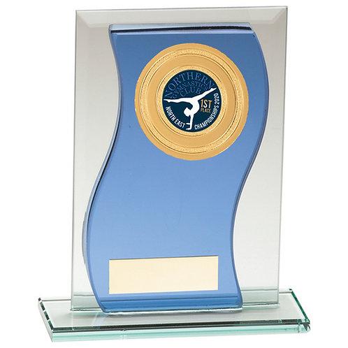 Azzuri Wave Multisport Mirror Glass Award Blue & Silver - 145mm