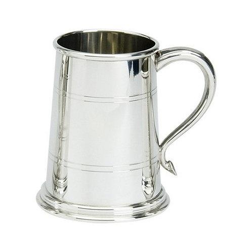 Tankard | 1 Pint | Wells Design | Pewter | Free Engraving