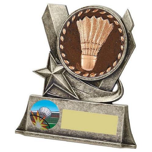 Badminton Metal Stand Award - 100mm