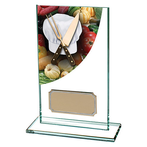 Colour Curve Cooking Jade Glass Award - 140mm