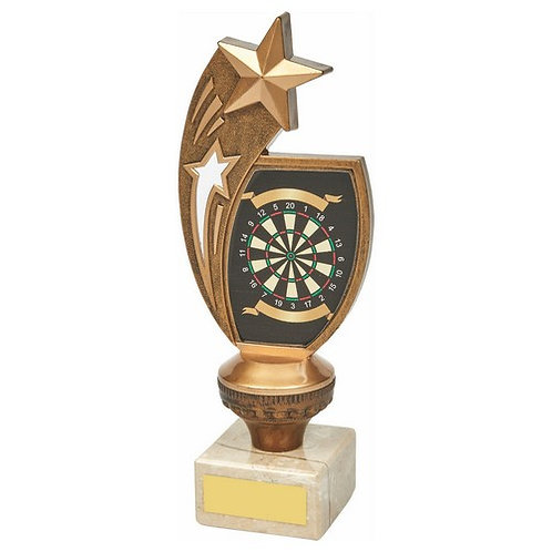 Antique Gold Darts Star Award - 210mm