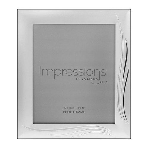 Satin S/P Photoframe | Grass Blade Design | 8 x 10  | Free Engraving