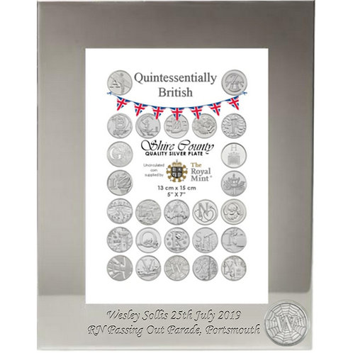 Photo Frame with British Coin | World Wide Web | Letter W | Free Engraving