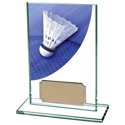 Colour Curve Badminton Jade Glass Award - 125mm