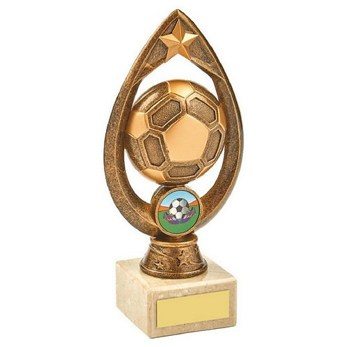 Antique Gold Football Trophy - 180mm