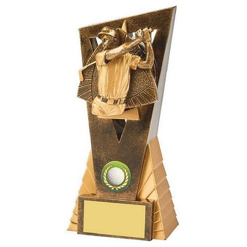 Antique Gold Male Golf Edge Award - 180mm