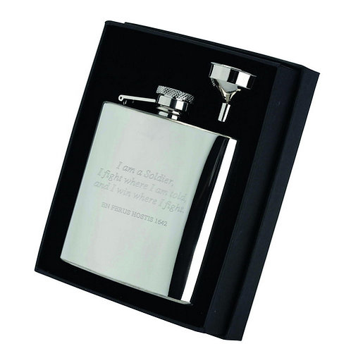 6 Oz Stainless Steel Hip Flask With Captive Top  - 6OZ - 108 mm