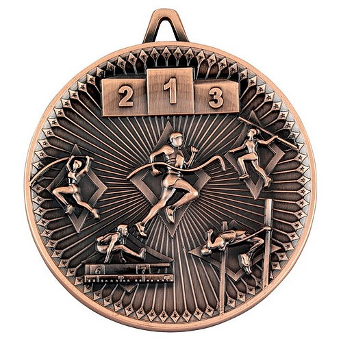 Athletics Deluxe Medal Bronze - 60 mm