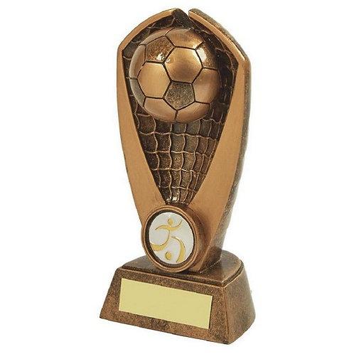 Antique Gold Resin Football Award - 155mm