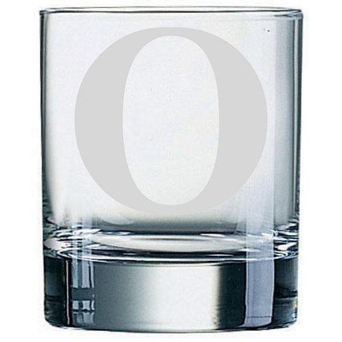 Dartington Crystal Initial Tumbler | Letter O | Boxed | Free Engraving