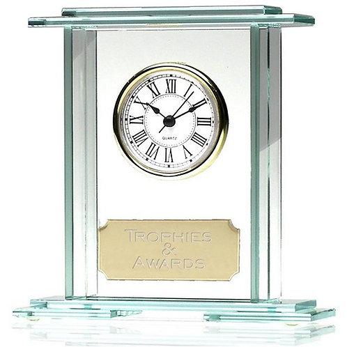 Eternity Jade Clock | Metal Plate | 158mm | Free Engraving