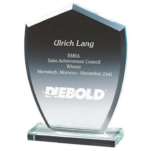 Clear Glass Shield Award - 150mm
