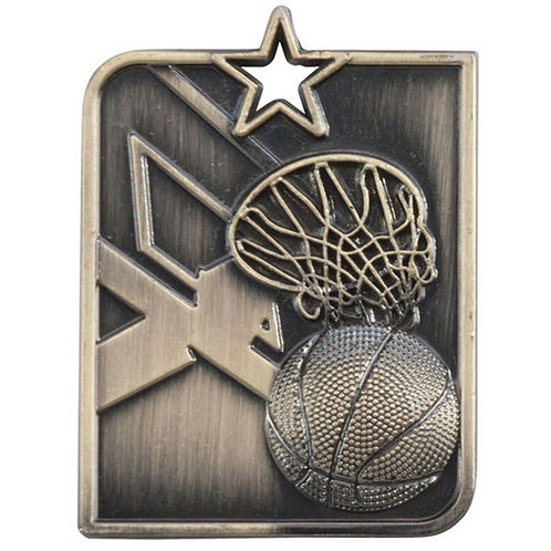 Centurion Star Series Basketball Medal Gold - 53x40mm