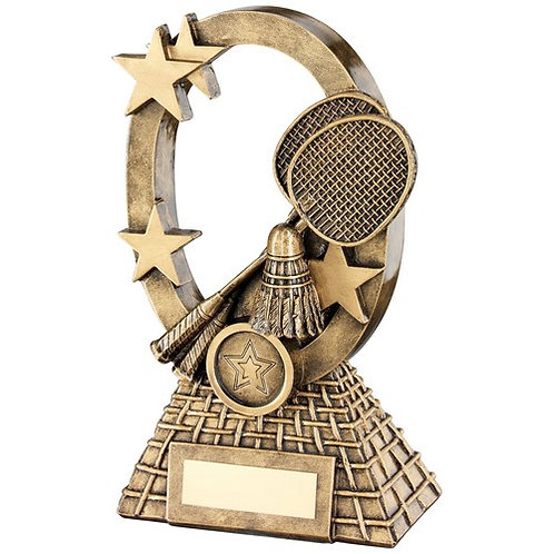 Badminton Oval/Stars Series Trophy - 184 mm