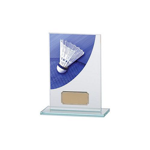 Colour Curve Badminton Jade Glass Award - 140mm