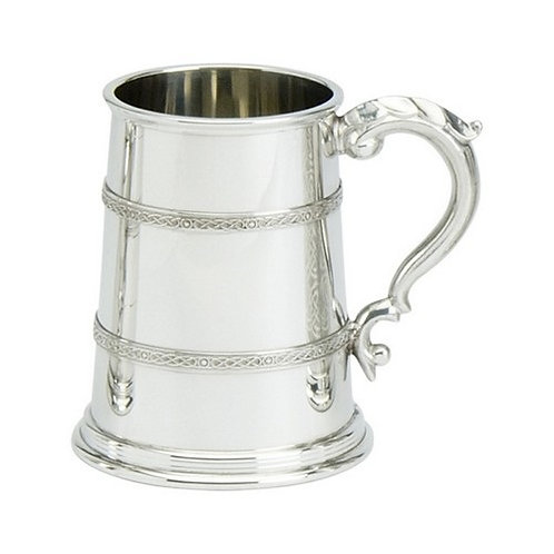 Tankard | 1 Pint | Campbell Design | Pewter | Free Engraving