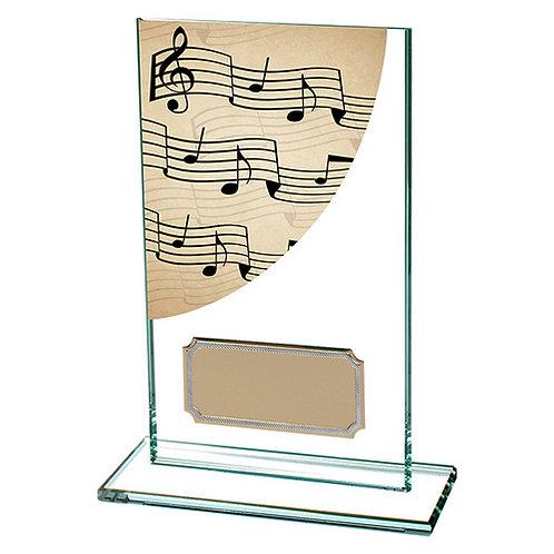 Colour Curve Music Jade Glass Award - 140mm