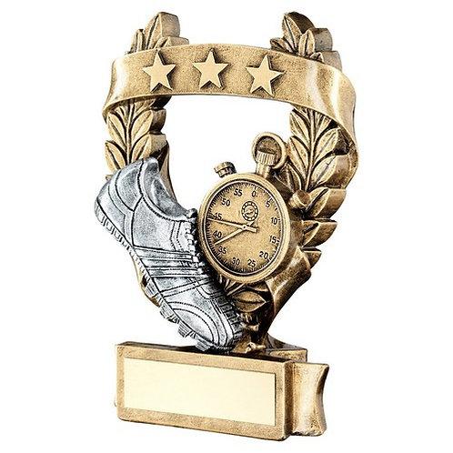 Athletics 3 Star Wreath Award Trophy - 159 mm