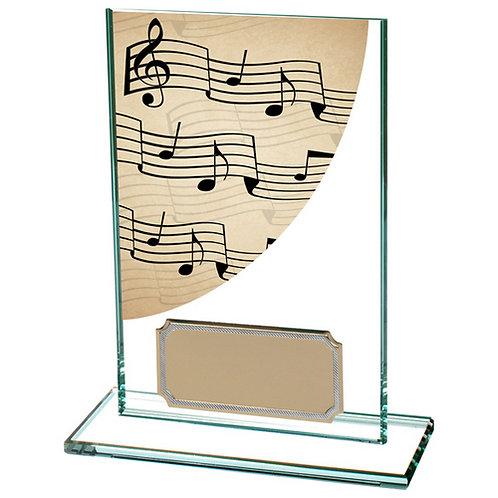 Colour Curve Music Jade Glass Award - 125mm