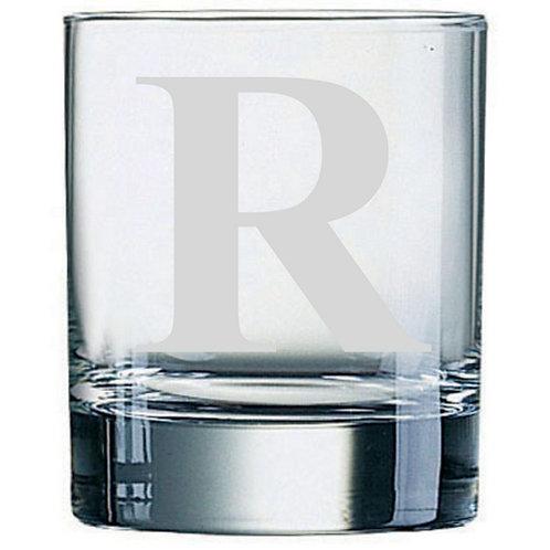 Dartington Crystal Initial Tumbler | Letter R | Boxed | Free Engraving