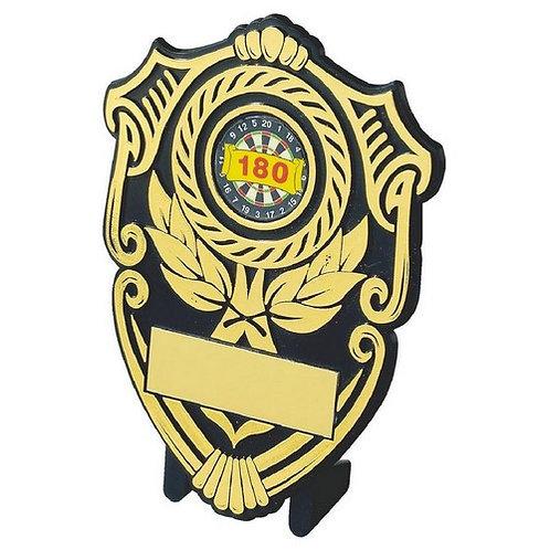 Black Plastic Shield Award - 120mm