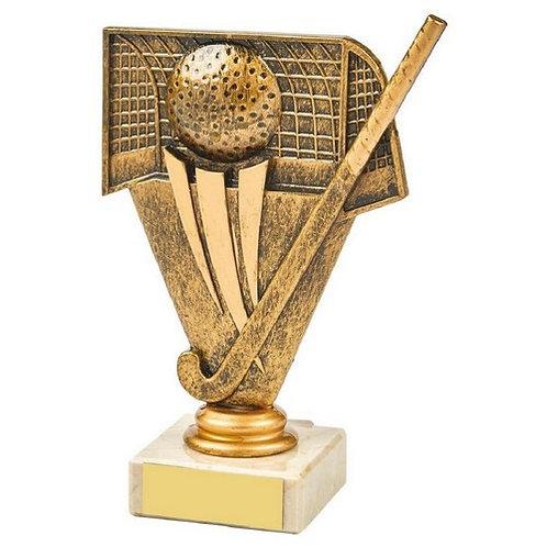 Antique Gold Hockey Holder Award - 150mm