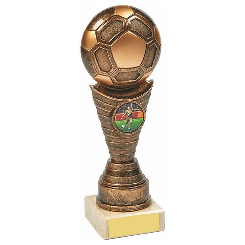 Antique Gold Football Trophy - 190mm