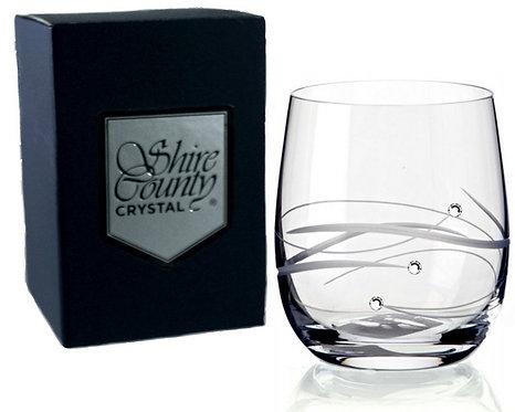 Shire County Crystal Diamond | Cut Whisky Tumbler Ft Diamante | Gift Carton