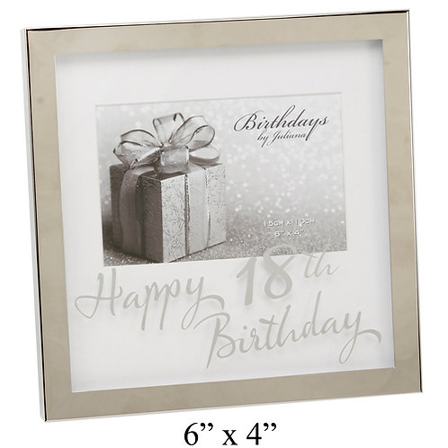 "Photoframe | 18th Birthday |  6 x 4"" | Mirror Print  | Free Engraving"