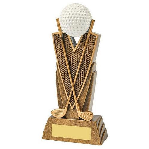 Antique Gold Golf Club/Ball Resin - 170mm