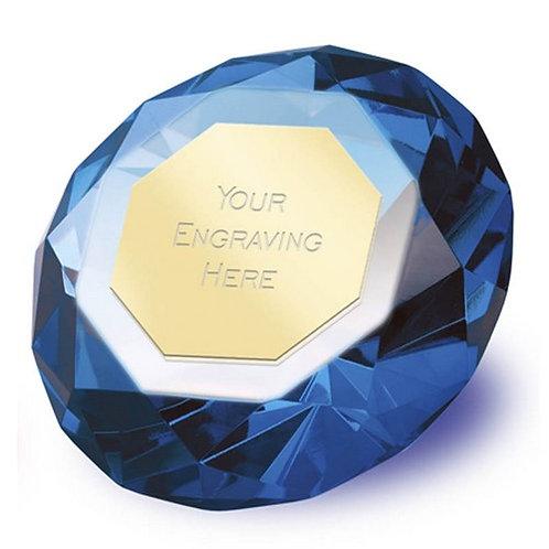 Blue Diamond | Metal Plate | Free Engraving