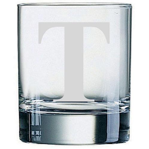 Dartington Crystal Initial Tumbler | Letter T | Boxed | Free Engraving
