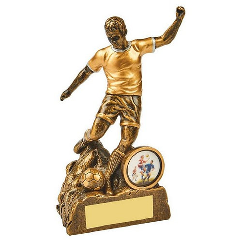 Antique Gold Male Football Resin - 140mm