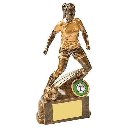 Antique Gold Female Football Resin - 190mm