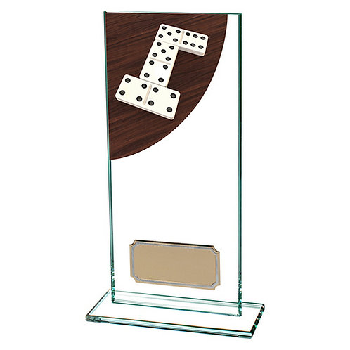 Colour Curve Dominoes Jade Glass Award - 180mm