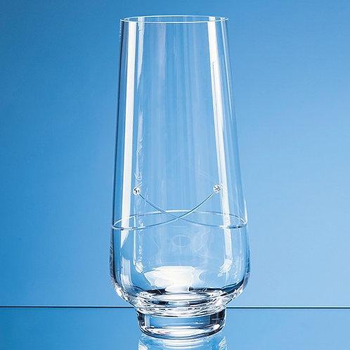 Kiss Cut Crystal Vase   Swarovski Elements   255mm   Free Engraving