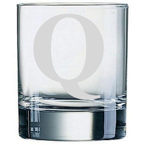Dartington Crystal Initial Tumbler | Letter Q | Boxed | Free Engraving