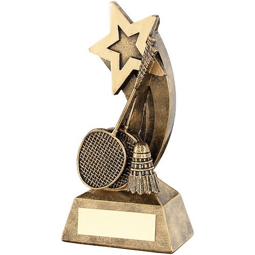 Badminton Rackets/Shuttlecock With Shooting Star Trophy - 146 mm