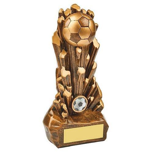 Antique Gold Resin Football Award - 250mm